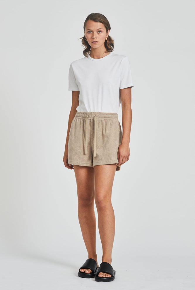 Terry Drawstring Short - Dusty Peach