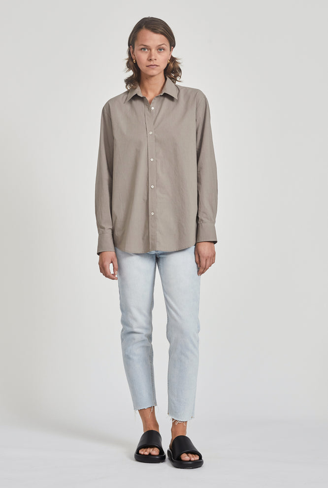Classic Poplin Shirt - Putty