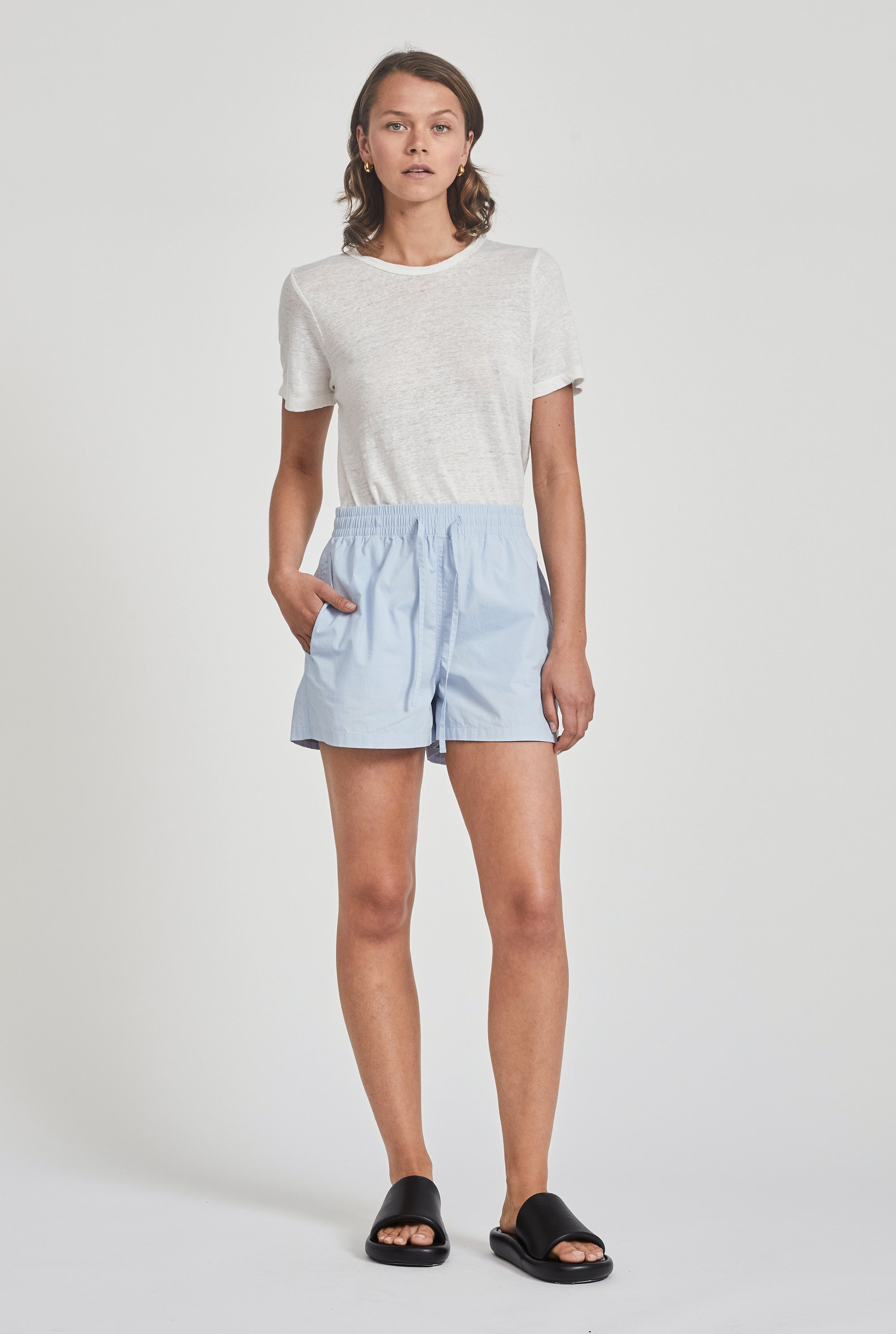 Cotton Drawstring Short - Spring Blue