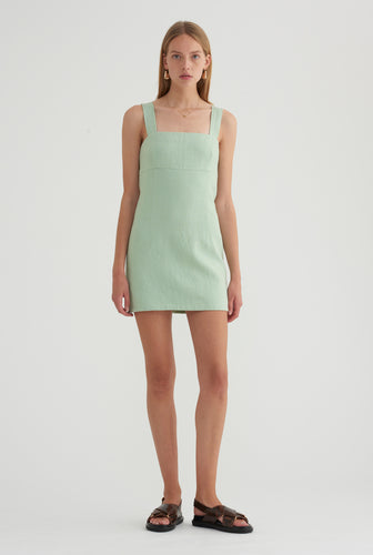 Fitted Mini Dress - Mint