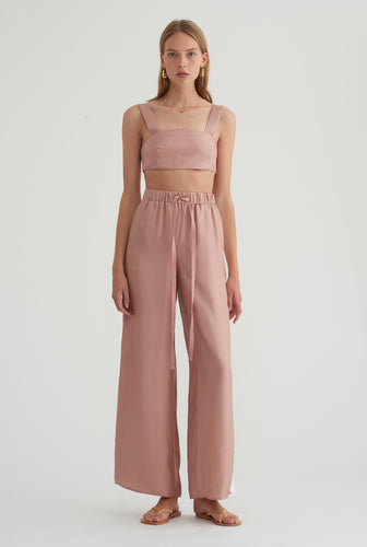 Silk Crop Top - Rosé