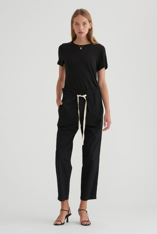 Cotton Twill Pant - Black