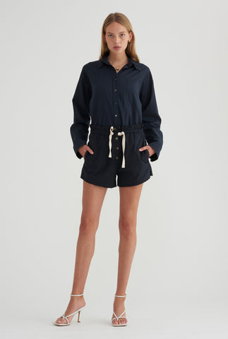 Cotton Twill Short - Navy