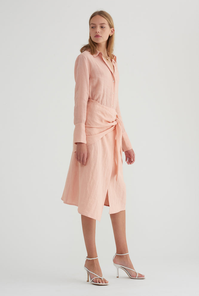 Side Knot Skirt - Blush