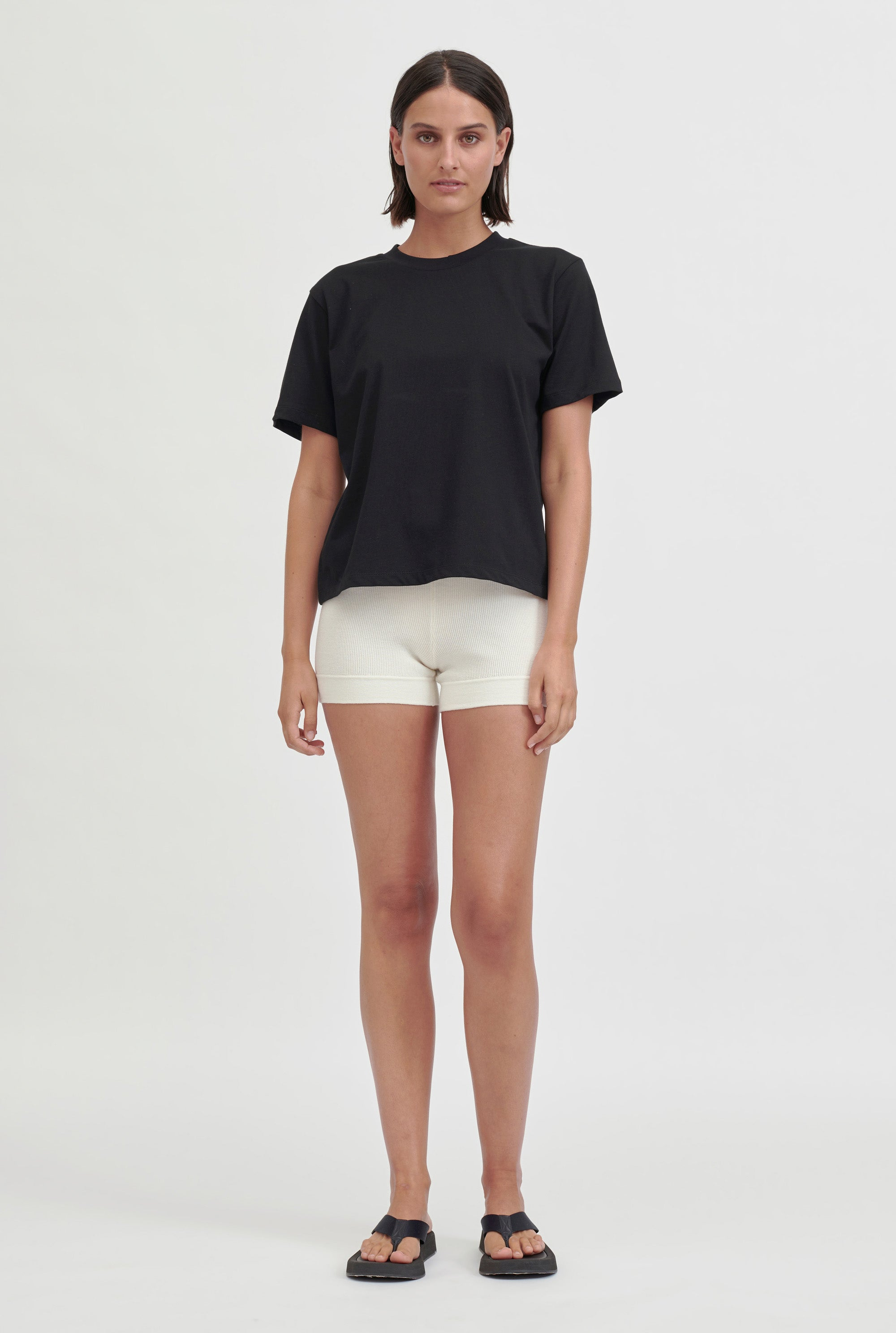 Oversized Cotton T Shirt - Black