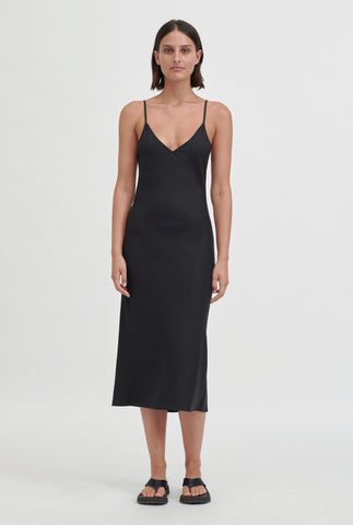 Slip Bias Dress - Black