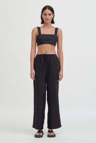 Poplin Crop Top - Black