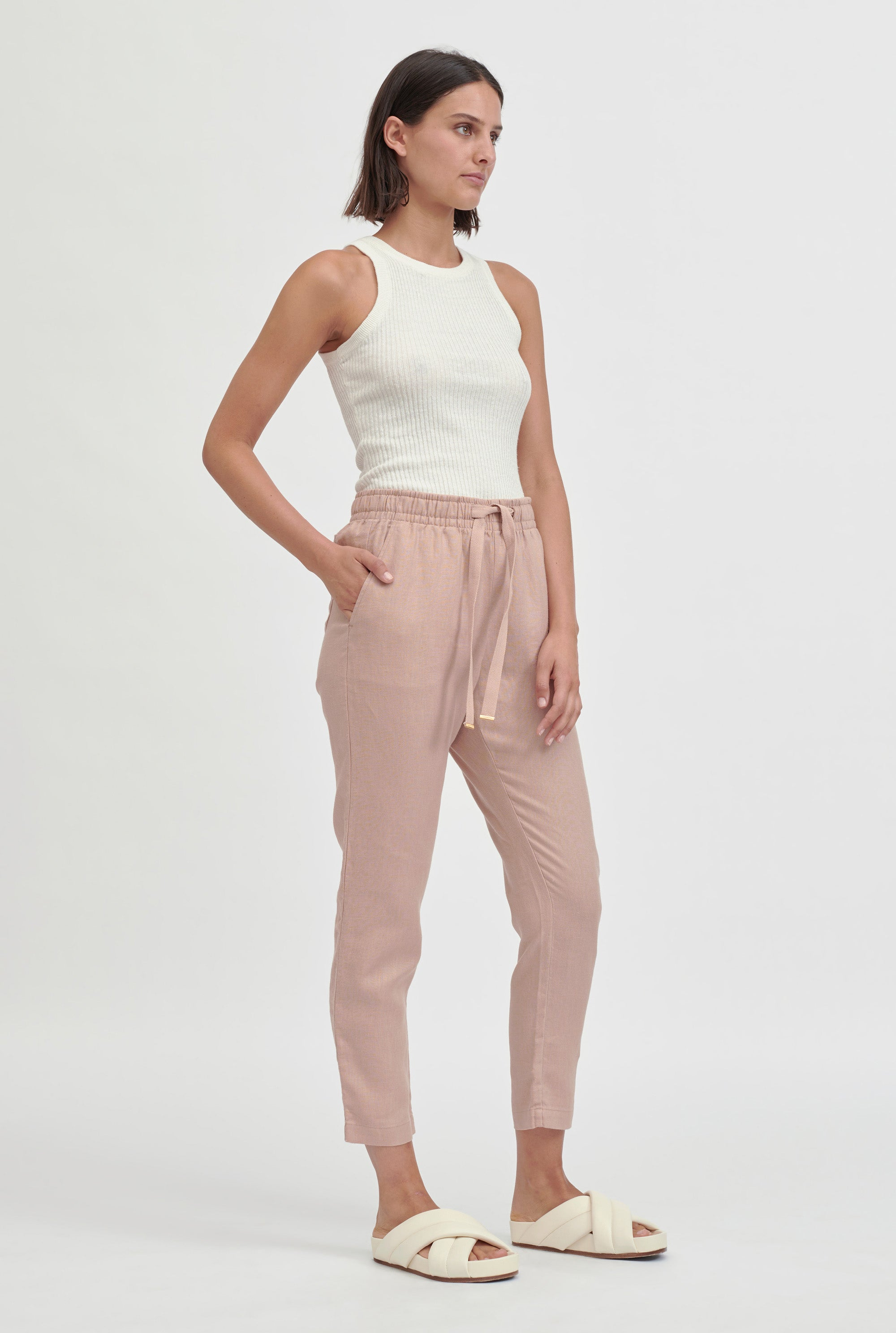 Womens Lounge Pant - Dusty Peach