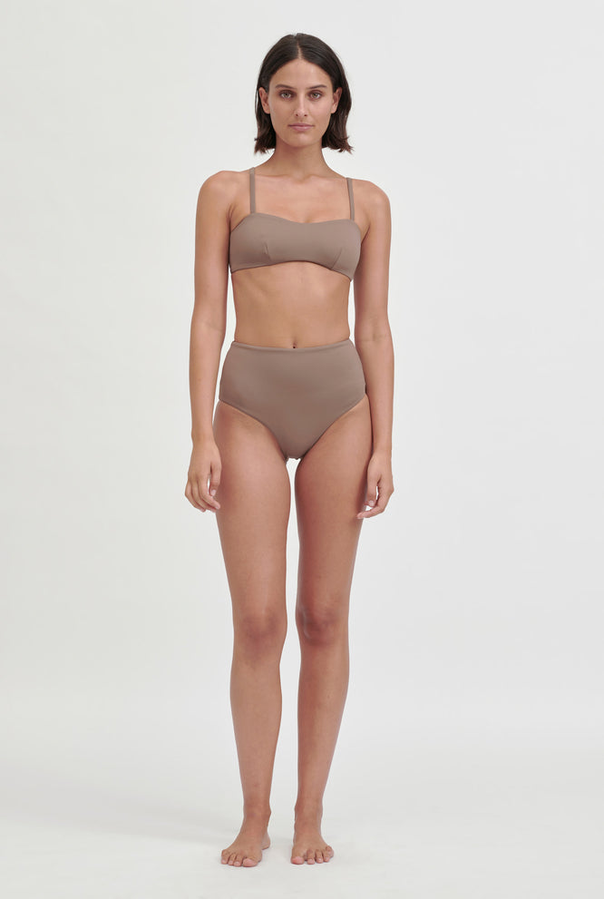 Matte High Waisted Bottom - Putty