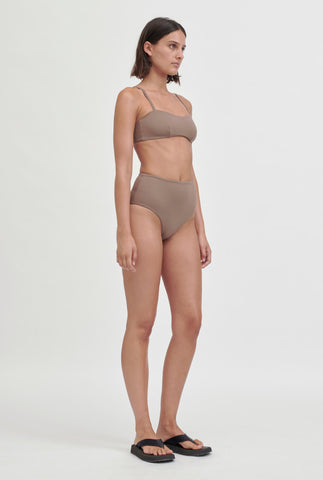 Matte Bandeau Top - Putty