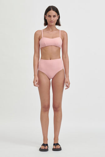 Terry Bandeau Top - Pink