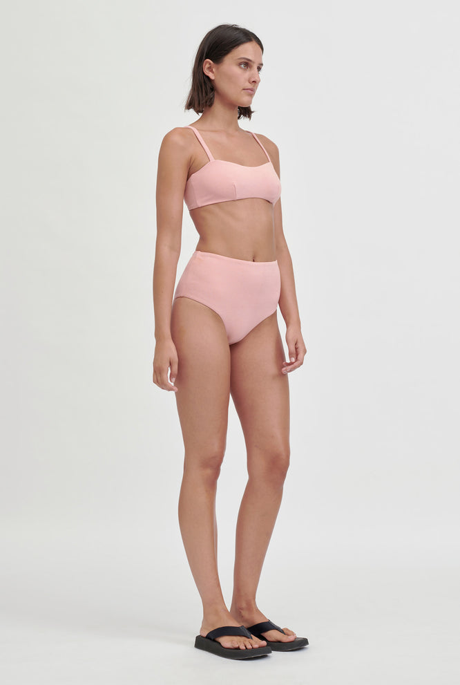 Terry High Waisted Bottom - Pink