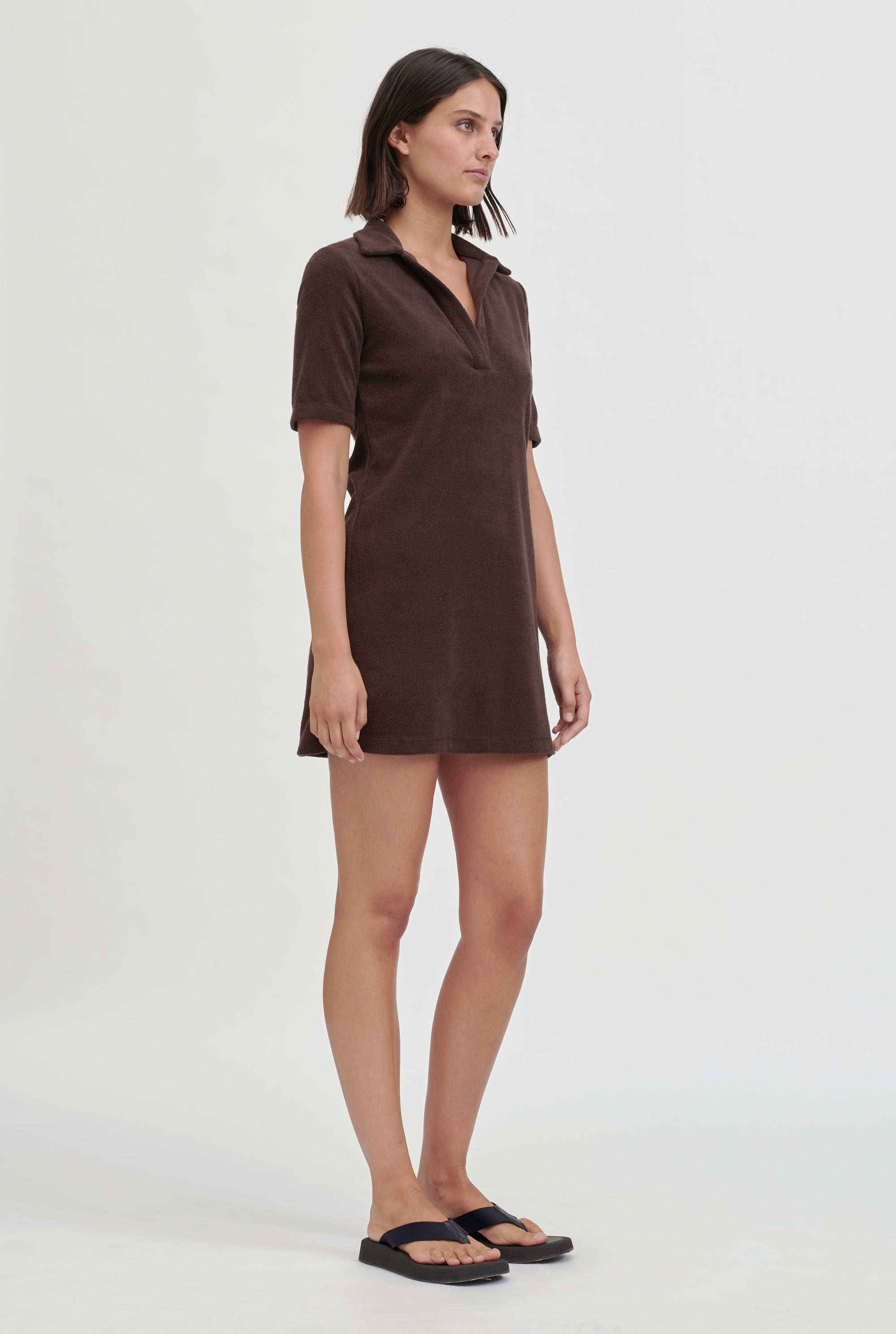 Terry Polo Dress - Cacao