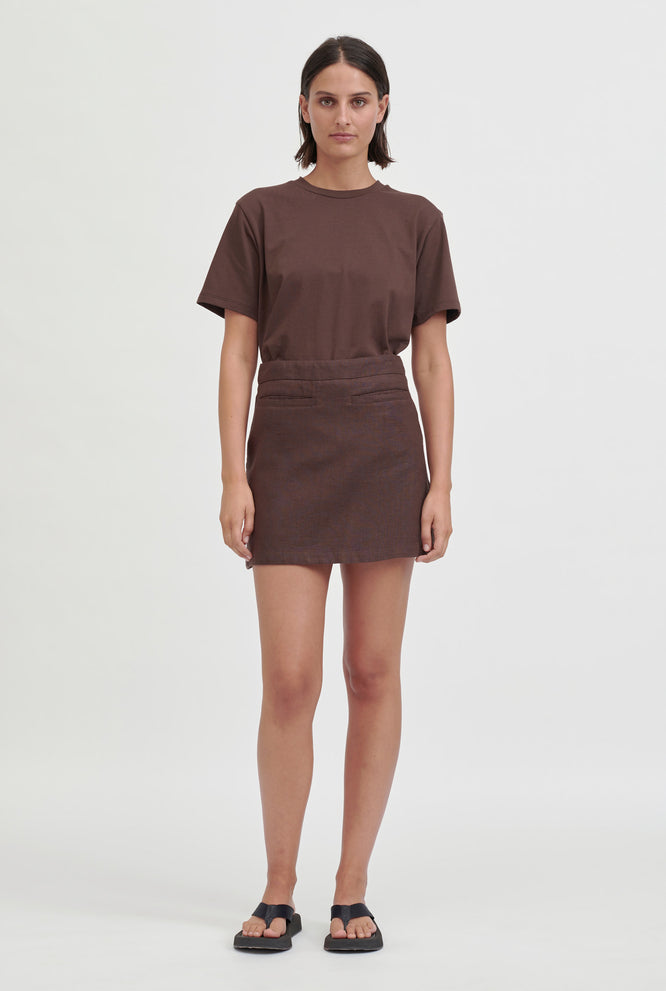 Oversized Cotton T-Shirt - Cacao