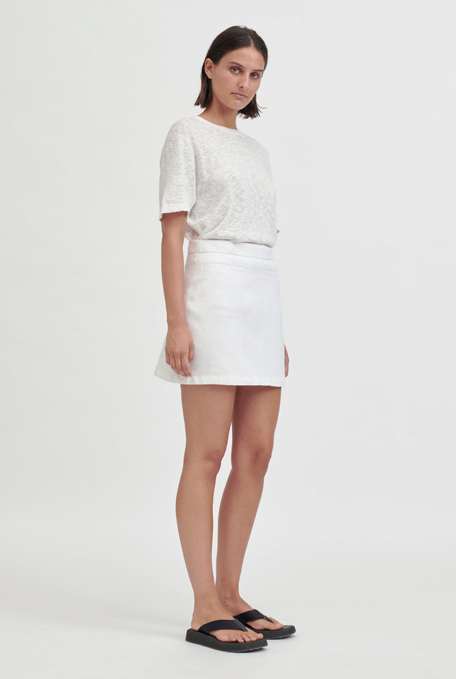 Fitted Mini Skirt - White