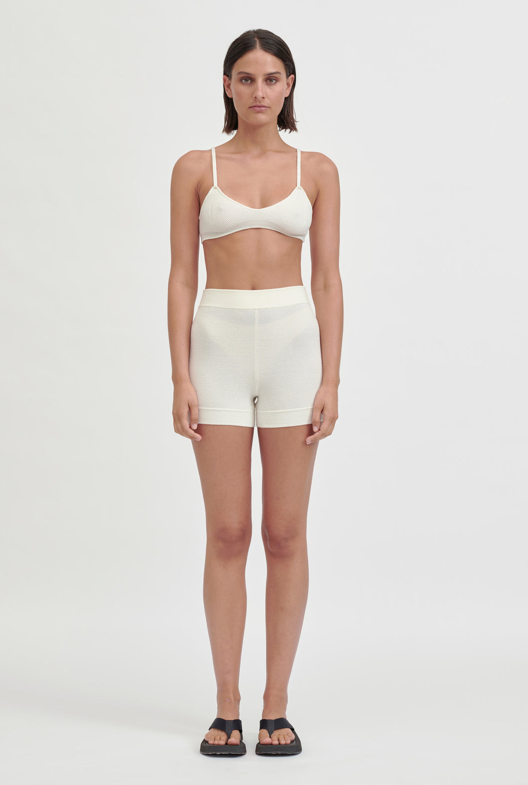 Knitted Bike Short - Off White