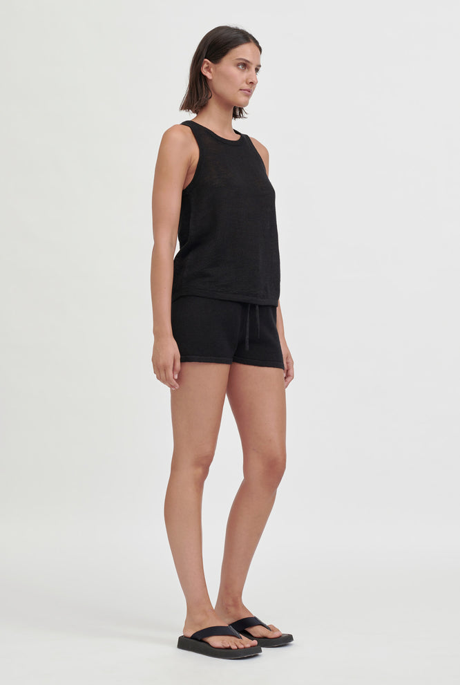 Knitted Tank - Black