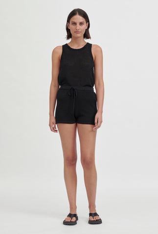 Linen Knitted Short - Black