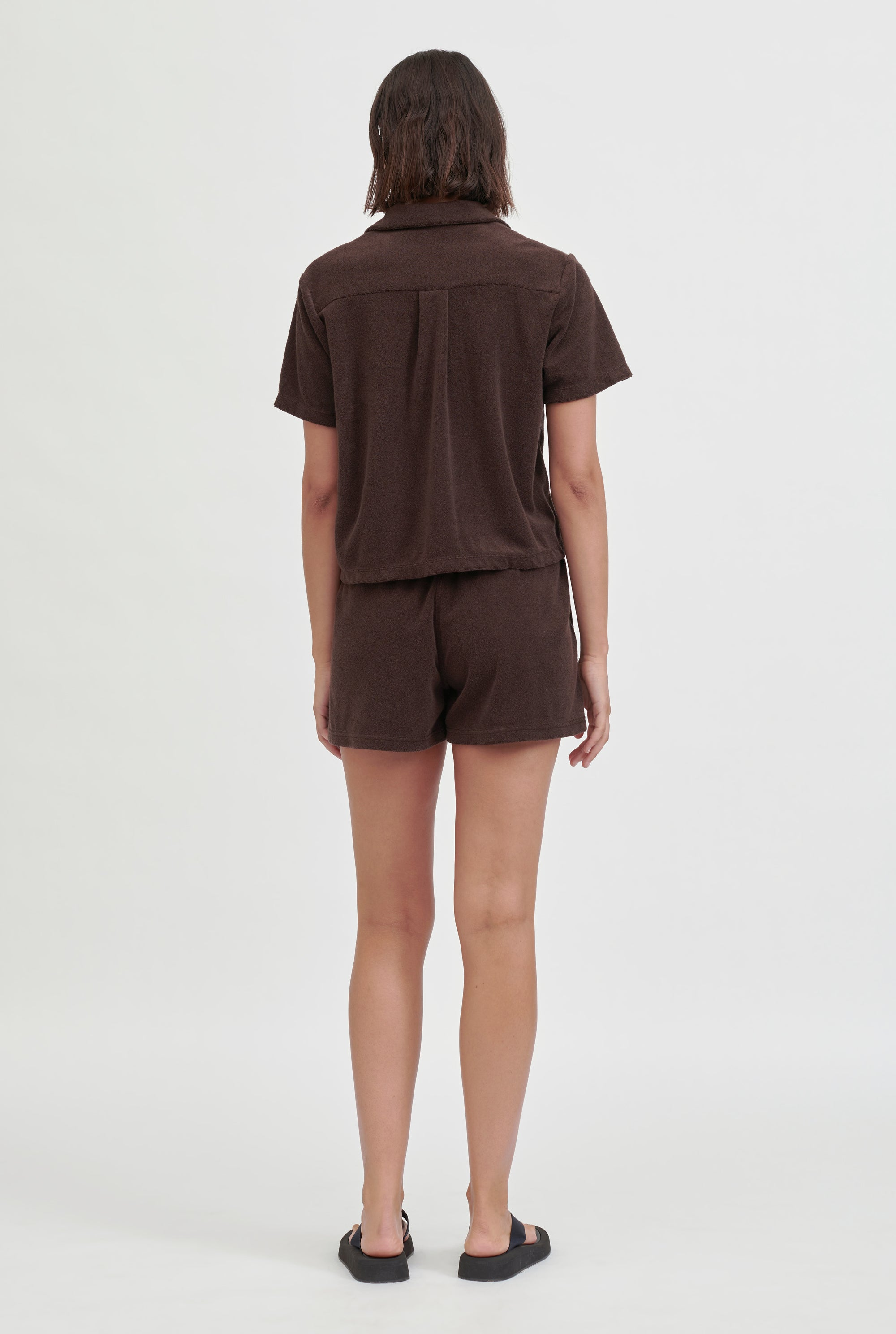Terry Drawstring Short - Cacao