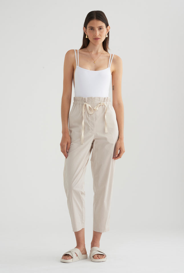 Cotton Twill Pant - Oat