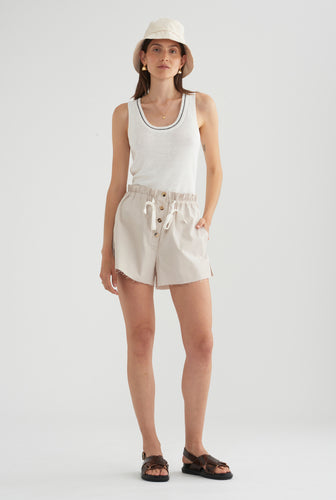 Cotton Twill Short - Oat