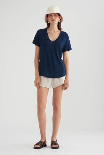 Scoopneck T-Shirt - Navy