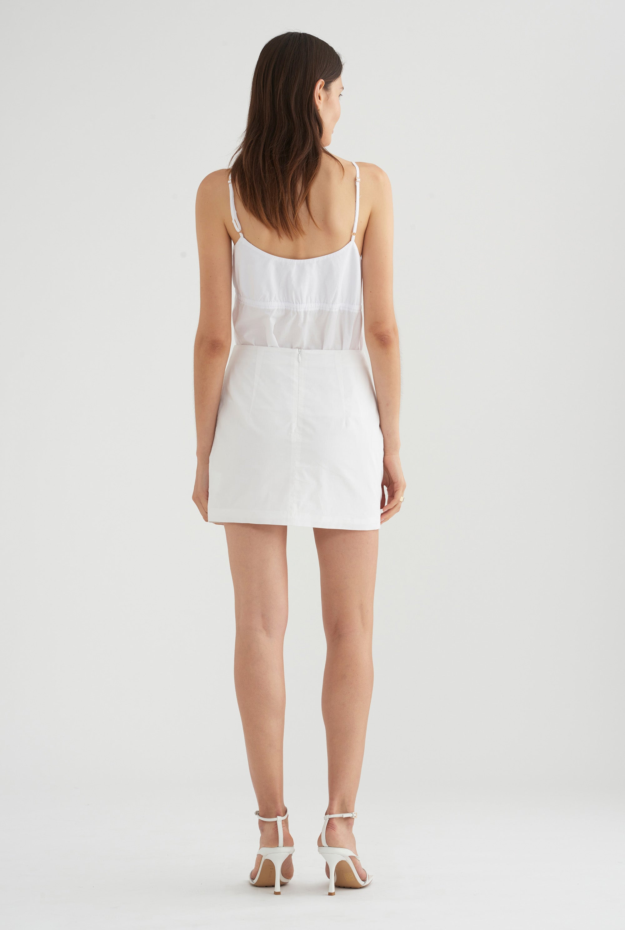 Rouched Skirt - White