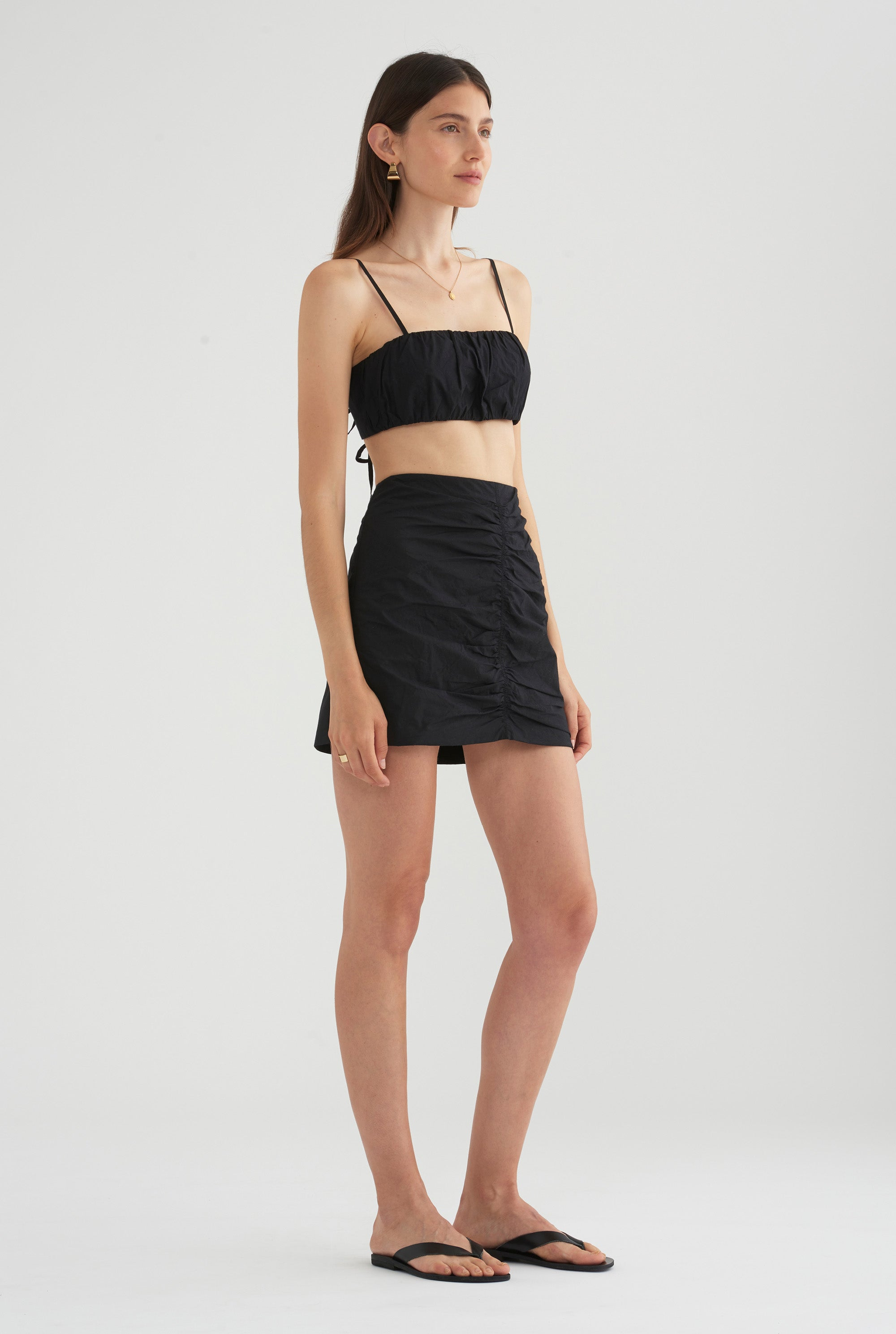 Rouched Skirt - Black
