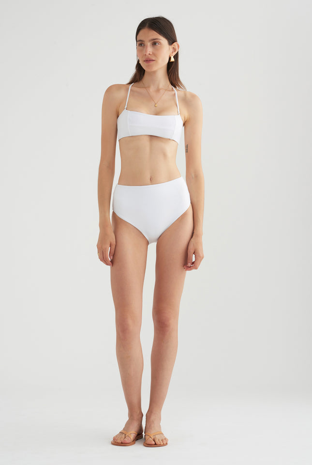 Womens High Waisted Bottom - White