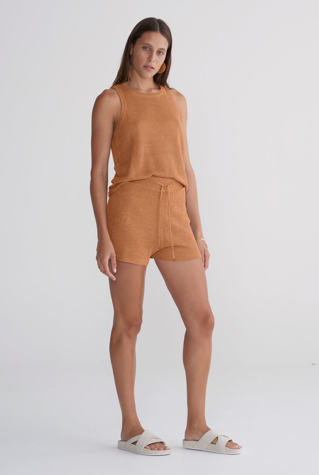 Knitted Short - Tobacco