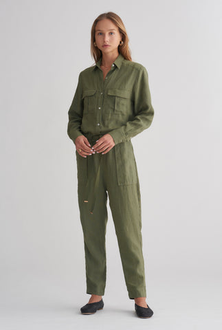 Patch Pocket Boiler - Army Green
