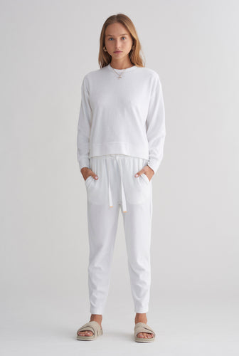 Terry Towel Sweater - White
