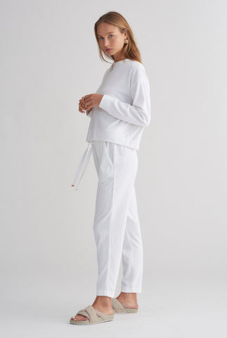 Terry Towel Lounge Pant - White