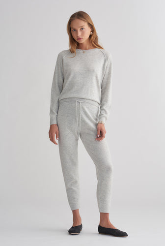 Cashmere Lounge Pant - Grey Marl
