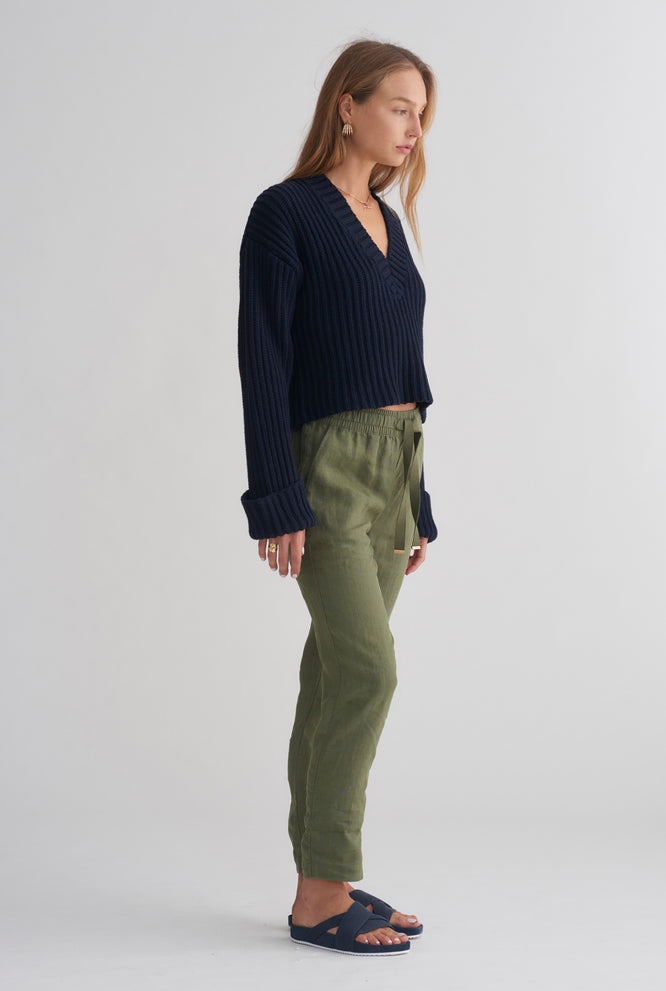 Womens Lounge Pant - Army Green