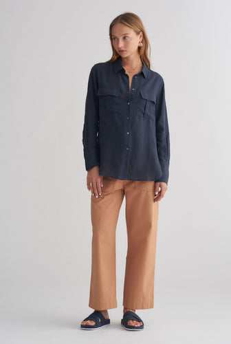 Womens Pocket Shirt - Navy