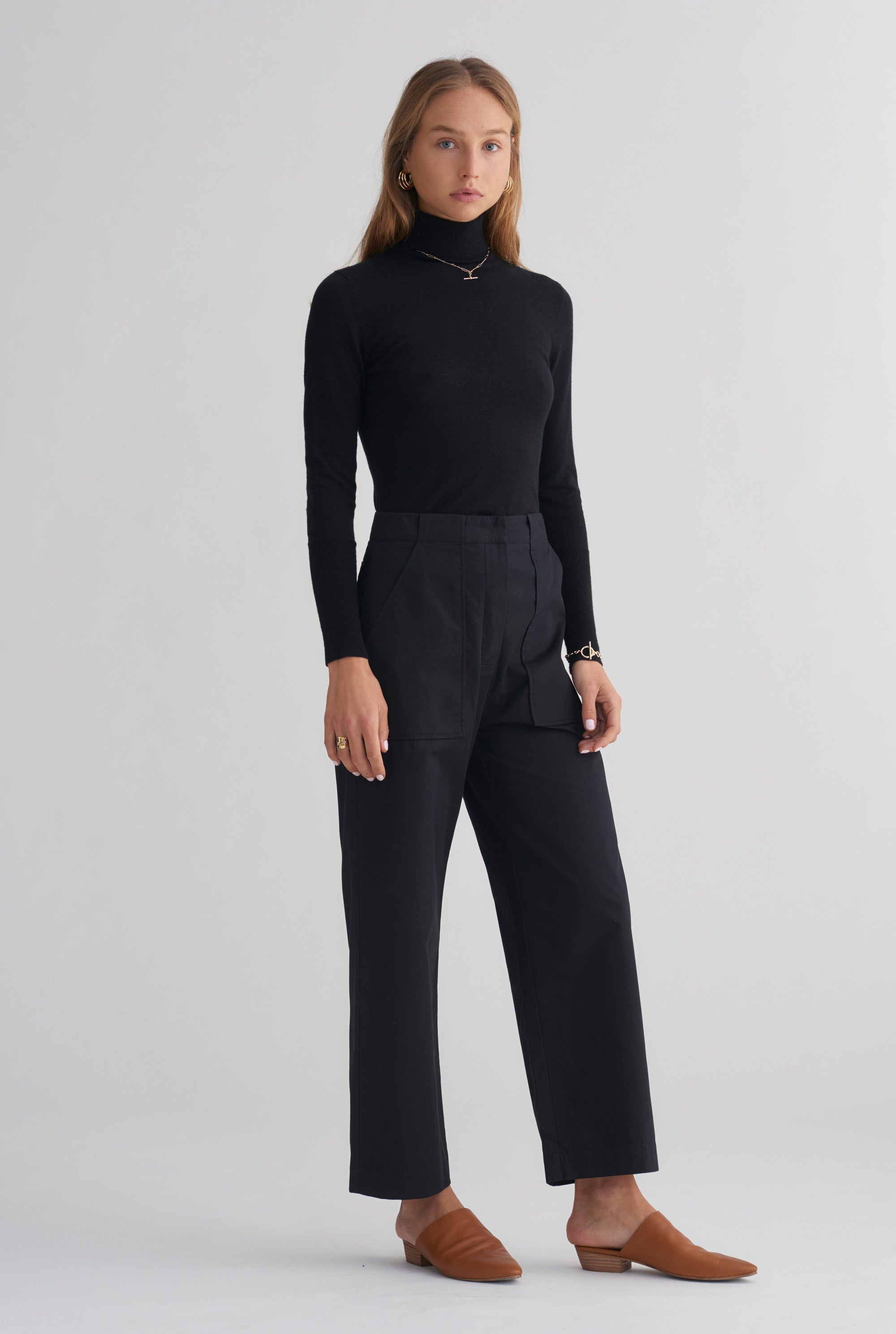 Cashmere Layering Knit - Black