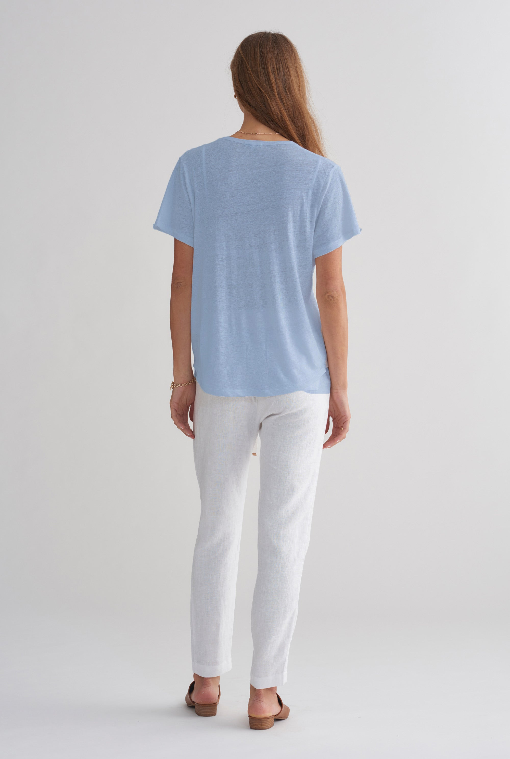 Scoopneck T-Shirt - Cornflower Blue