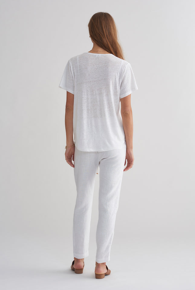 Superfine Scoopneck T Shirt - White