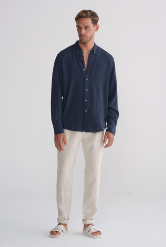 Tencel Shirt - Navy