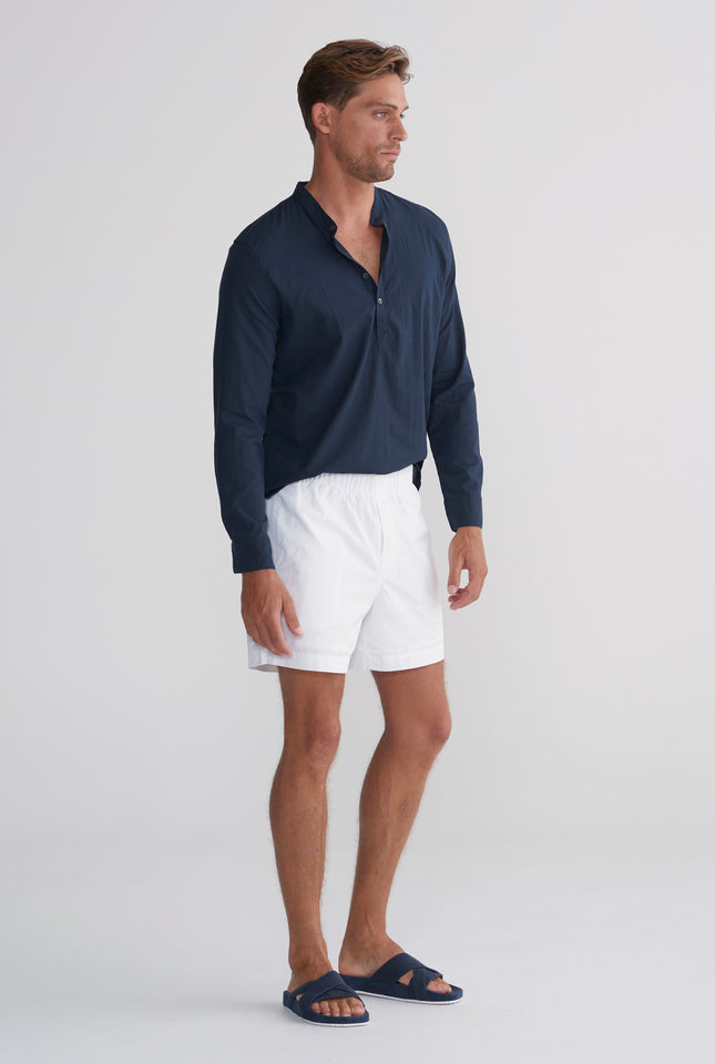 Poplin Lounge Short - White