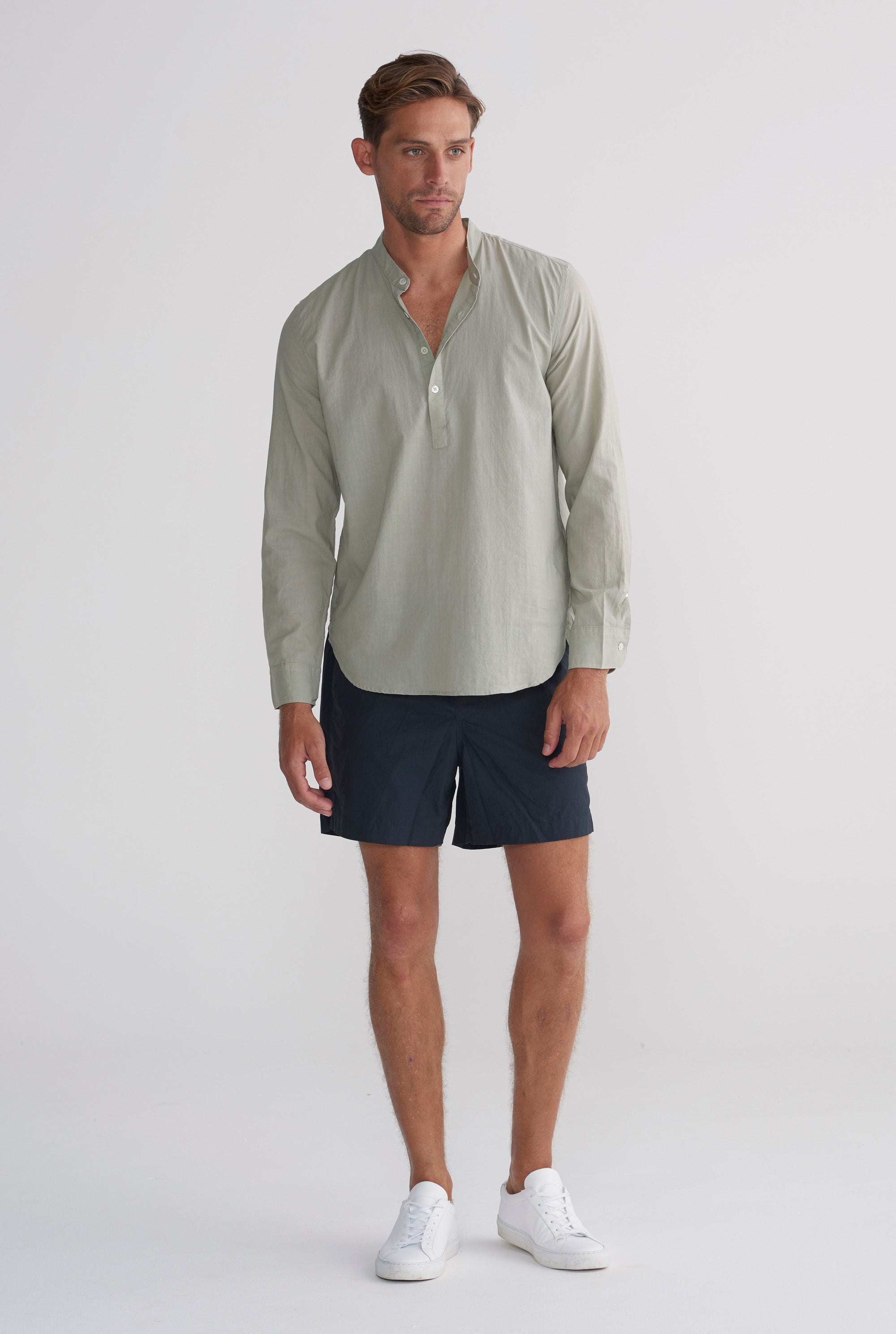 Pop Over Poplin Shirt - Sage