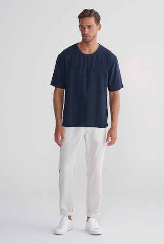 Tencel T-Shirt - Navy