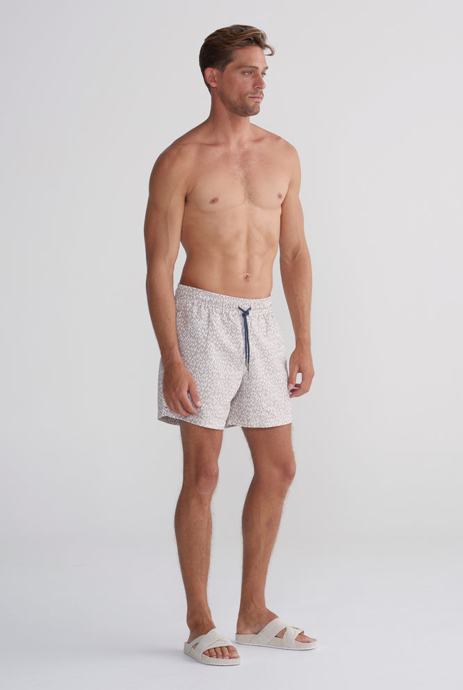 Swim Short - Taupe V Print