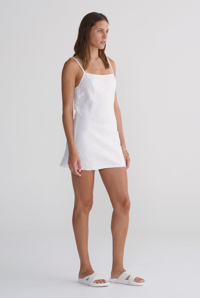 Mini Bias Dress - White