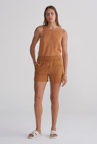 Womens Boxer Short - Tobacco