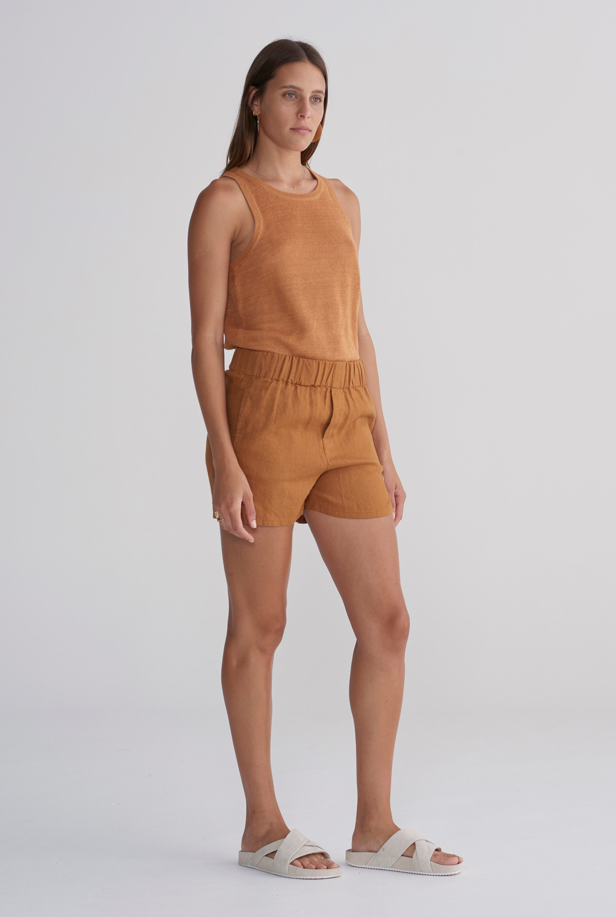 Knitted Tank - Tobacco