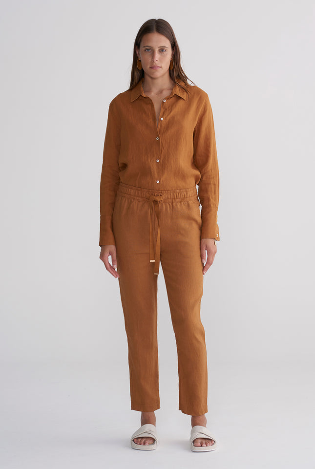 Womens Lounge Pant - Tobacco