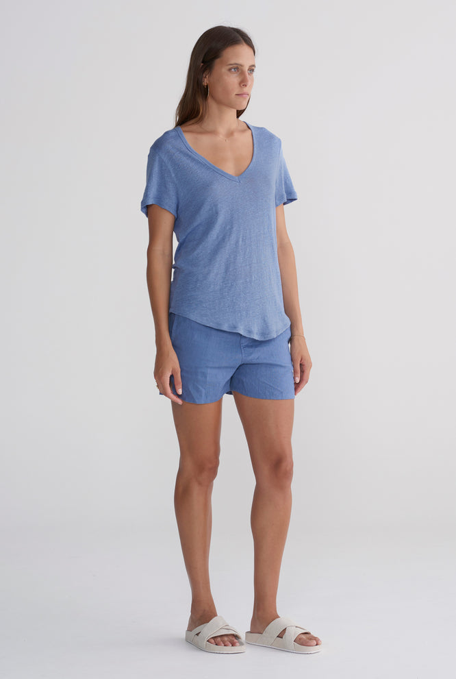 Scoopneck T Shirt - Marine Blue