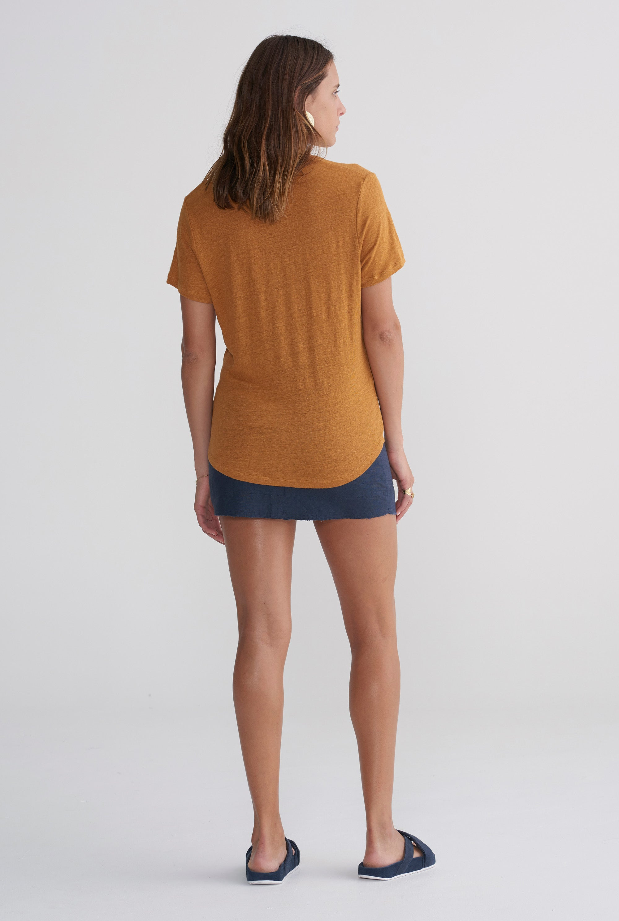 Womens Scoopneck T Shirt - Tobacco